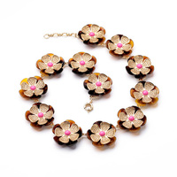 Dress Popular Design Resin Zinc Alloy Best Seller Women Sweet Flower Elegant Bohemia Chokers Necklace