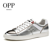OPP New footwear 2017 Summer Mens Shoes Loafers For Men Cow Leather Flats Shoes Casual Sequins White Shoes Leather Loafers Man 2