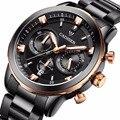 2016 Новый CADISEN Кварцевые Часы Мужчины Люксовый Бренд Водонепроницаемые Часы Человек Шесть-контактный Спорт Военные Наручные Часы relogio masculino