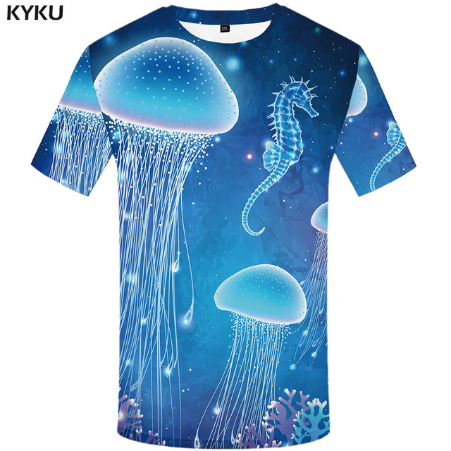 KYKU Brand Coconut Shirt Sunlight Beach Shirts Hawaii Clothes Tshirt Mens 3d T shirt Men Hip hop Clothing Casual Wear 2018 New
