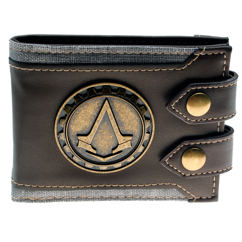Juego Assassins Creed wallet Men Wallet Small Vintage Wallet Brand High Quality Designer Short Purse DFT-1479 italian style fashion men s jeans shorts high quality vintage retro designer classical short ripped jeans brand denim shorts men