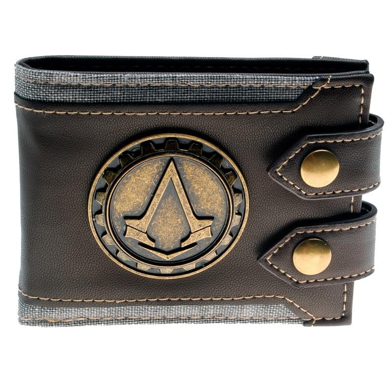 Juego Assassins Creed wallet Men Wallet Small Vintage Wallet Brand High Quality Designer Short Purse DFT-1479 assassins creed wallet dft 1918