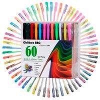 Lodibe 48 60 100 120 Gel Pens Set Color Gel Pens Glitter Metallic Pens Good Gift