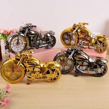 Creative Motorcycle Motorbike Pattern Alarm Clock Desk Clock Creative Home Birthday Gift Cool Clock (Wheel Type was Randomly) 2