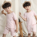 The 2016 Summer Children's Clothing Wholesale Boy Cotton T-shirt Shorts Two Piece Suit Small Children