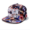 Alta qualidade flor Hop chapéu flores Coloridas plana ao longo do boné de beisebol Dos Homens e das mulheres de se recuperar rapidamente de moda tendências
