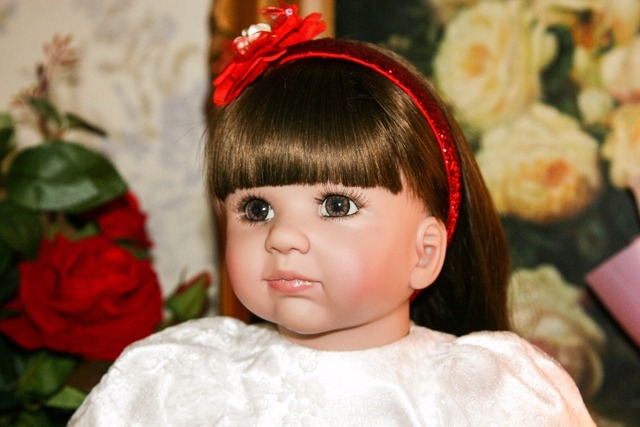 60cm Silicone Reborn Baby Doll Toy 24 Vinyl Princess Toddler Babies Alive Bebe Doll High end