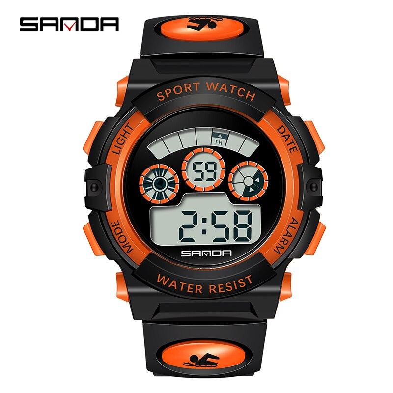 SANDA outdoor Sport Student Children Watch Kids Watches Multi Function Boys Girls Clock Child LED Digital Electronic Wrist Watch