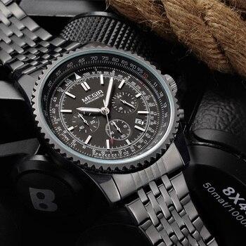9cce51c4d3b4 Reloj de cuarzo MEGIR reloj luminoso cronógrafo deportivo militar para  hombre reloj de pulsera de lujo de marca superior reloj masculino
