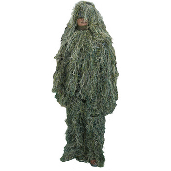Jungle Green 5 pieces New Ghillie Suit Camo Woodland Camouflage Forest Hunting 3D