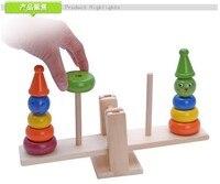 Holzspielzeug komiker clown turm balance holz spielzeug Wippe baby geburtstagsgeschenk 1 box