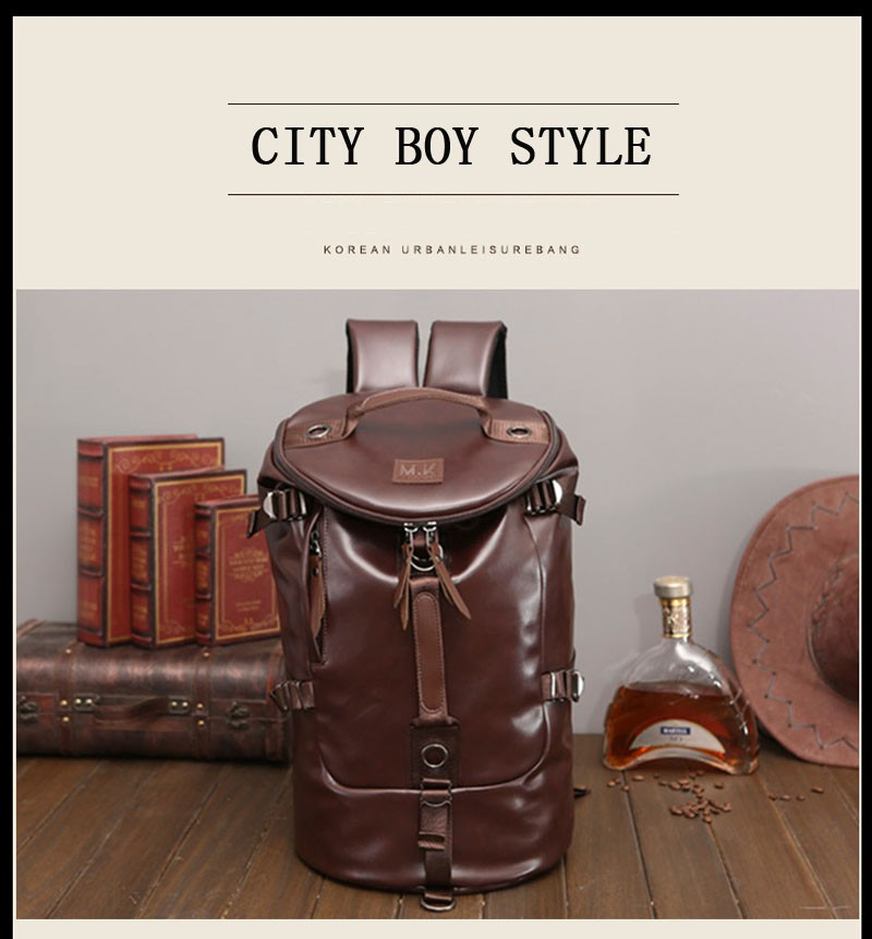 Men's Multi-Functional Backpack Vintage Shoulder Bag High Quality Canvas Male Bagpack Rucksack Travel Luggage for Weekend 29