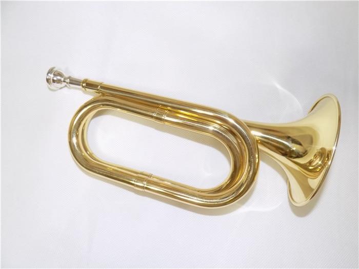 Bb 포스트 트럼펫 호른 (가방과 마우스 피스 포함) 황동 바디 래커 마감 악기