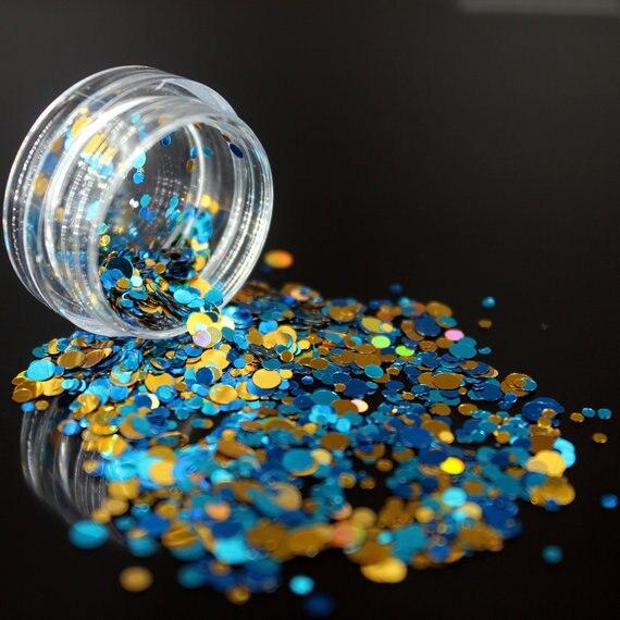 1 коробка блестящие круглые ультратонкие блестки Красочные Блестки для дизайна ногтей УФ гель 3D декоративный Маникюр DIY аксессуары NR234 - Цвет: 1