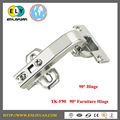 90 Degree special install soft closing furniture hinge
