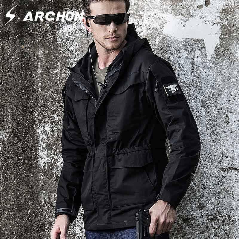 M65 UK US ejército ropa Casual táctico rompevientos hombres invierno otoño impermeable vuelo piloto chaqueta con capucha militar campo chaqueta