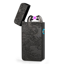 Arc Pulse Lighter USB Charging Pulse Windproof Lighter Coloful Dragon Design Cigarettes Cigar Lighters for Smoke