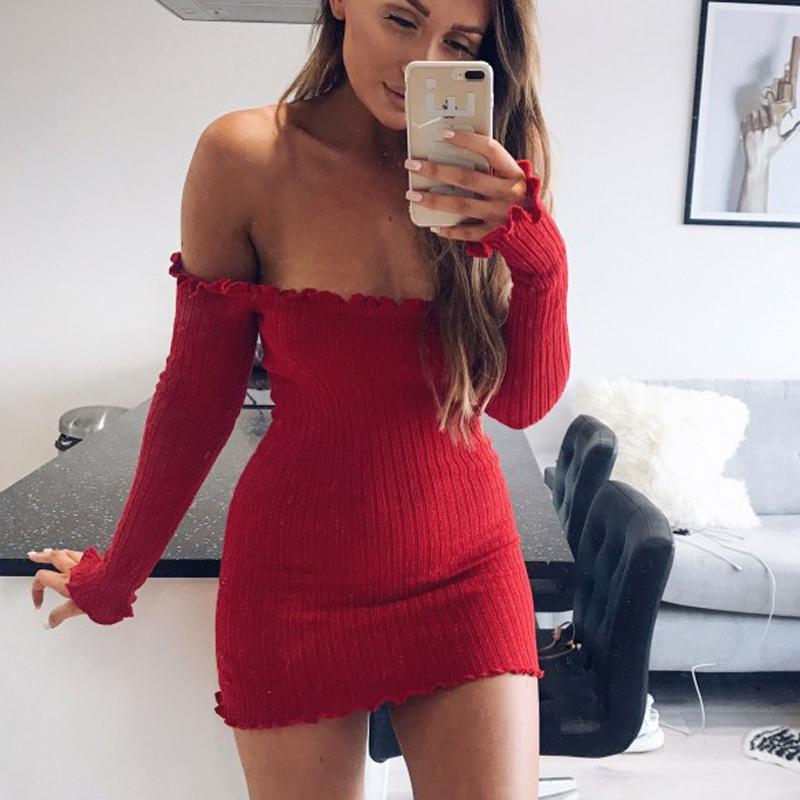 HTB1fHZgSpXXXXaEXpXXq6xXFXXXf - FREE SHIPPING Women Sexy Off Shoulder  Bodycon Dress Knitted Elastic Sweater JKP304