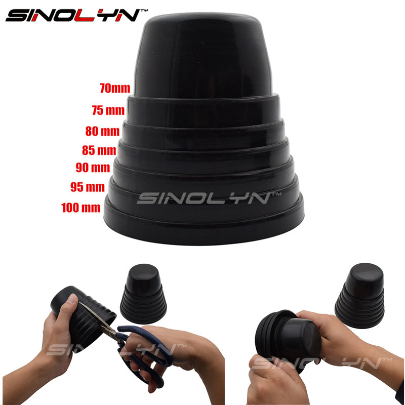 Sinolyn Rubber Cap Retrofit Tuning Car Universal Dust Cover For Headlights  Gaskets Boots 70 75 80 90 Mm Automobiles Accessories