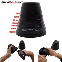 Sinolyn tampa de borracha retrofit  acessório para automóveis com ajuste universal de poeira para faróis  juntas 70 75 80 90 mm