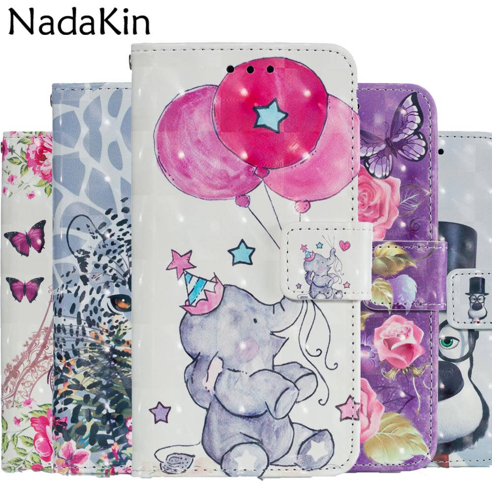 3D Painted Patterned Book Phone Case for Huawei Mate 20 P20 Lite Pro Flip Wallet Cover Leather with Hand Strap Card Pockets visa