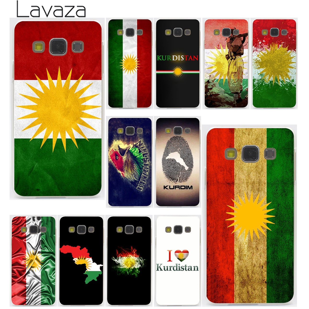 Lavaza Kurdish Autonomous Region flag Hard Case for Samsung Galaxy S3 S4 S5 & Mini S6 S7 Edge S6 S8 S9 Edge Plus