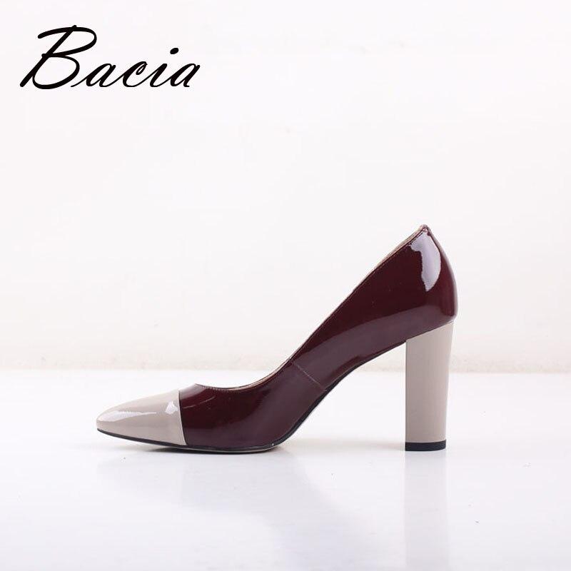 19 новые туфли с острым носком на высоком каблуке 8,2 см винные кожаные туфли элегантные модные туфли весна лето женские туфли лодочки