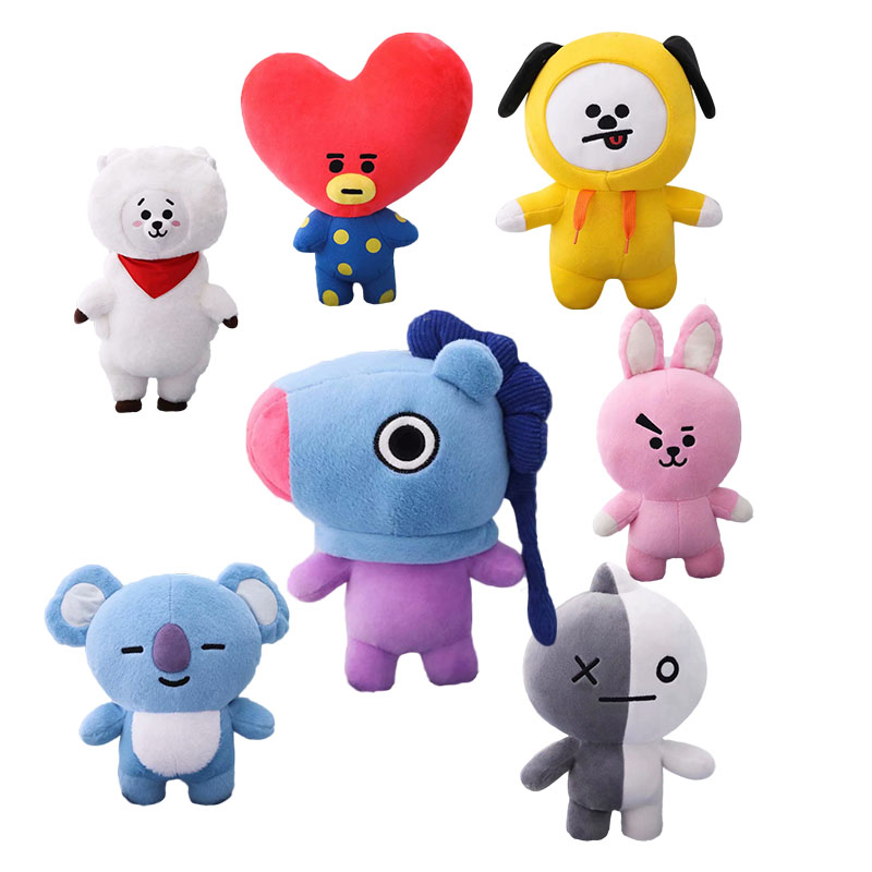 1pc 25/30/45cm Cute Bangtan Boys Plush Toy TATA VAN COOKY CHIMMY SHOOKY KOYA RJ MANG Gift Pillow Cushion Children Gift(China)