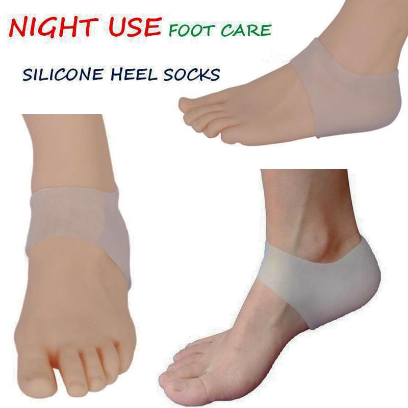 1 par gratis frakt medicinsk grad bra mjuka silikon insoles fuktgivande silikagel sockor crack häl hudvård fotskydd