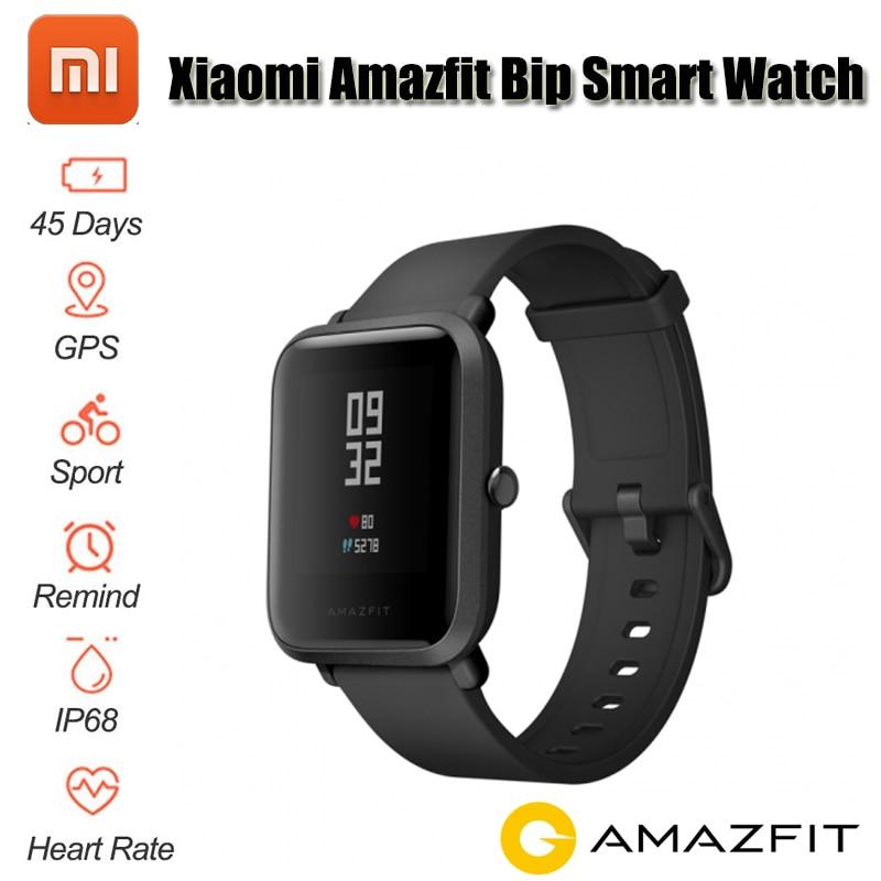 2018 NEW Xiaomi Amazfit Bip Smart Watch [English Version] Huami GPS Smartwatch Pace Lite Bluetooth 4.0 Heart Rate 45 Days цена