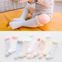 10 stücke Neugeborenen Baby Jungen Mädchen Hohl Kniehohe Socke moskito Baby Socken Kinder Sommer Kleidung Foto Prop 0-3Years