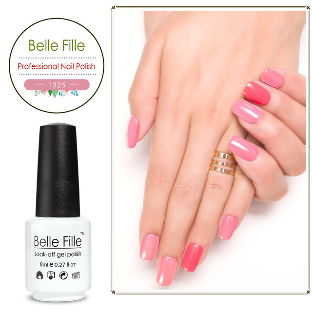 Belle Fille 8ml Glue Nail Polish Uv Gel Fake Nails Pink Blue White Black Sugar