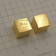 Au золото металл 10 мм Плотность куб 99.99% чистый для коллекции элементов