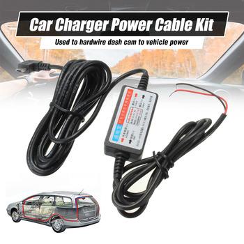 Nowy kabel Mini port micro usb kabel samochodowy zestaw ładujący do kamera do rejestracji wideo DVR ekskluzywna skrzynka zasilająca tanie i dobre opinie Audew 3m Cable Car DVR Charger Kable Adaptery i gniazda Charger Cable for Car DVR