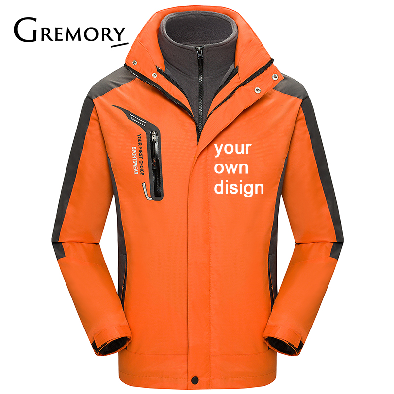 2019 Your OWN Design Brand Logo/Picture White Custom Men And Women Outdoor Jackets Plus Size Jacket Men Clothing HM1818 SA-8