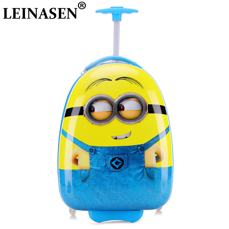16 inch New Cartoon Children Rolling Luggage Wheeled bag Kid Suitcase Boy Girl Carry-Ons ABS Luggage Trolley child Luggage16 inch New Cartoon Children Rolling Luggage Wheeled bag Kid Suitcase Boy Girl Carry-Ons ABS Luggage Trolley child Luggage