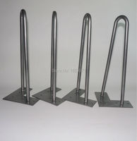 Free Shipping 12 Hairpin Legs Table Feet 2 Rod Set Of 4 Metal Legs For Wooden