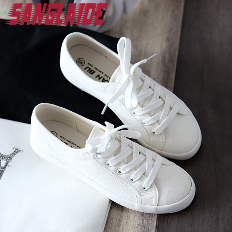 White Flat Summer Shoes