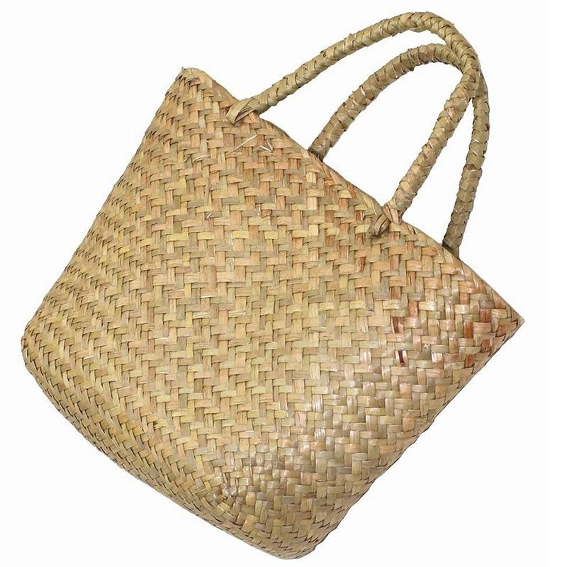 AUAU-WomenS Classic Straw Summer Beach Sea Shoulder Bag Handbag Tote, SmallAUAU-WomenS Classic Straw Summer Beach Sea Shoulder Bag Handbag Tote, Small