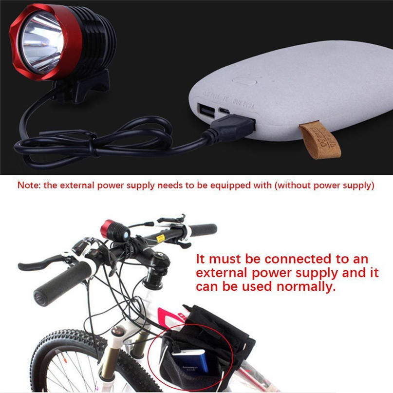 3000 Lumen XML T6 USB Bicycle Light Interface LED Bike Light Headlamp Headlight 3Mode bike light front #2A26#S