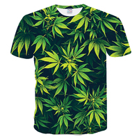 Футболки с 3D-принтом Повседневная мужская футболка с коротким рукавом Одежда Топы 2019 новая мода женщина кленовый лист натуральный пейзаж