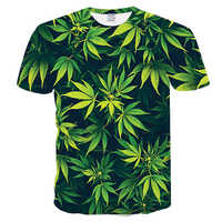 3d Gedruckt T-shirts Casual Mann T-shirt Kurzarm Sweatshirt Kleidung Tops 2019 Neue Mode Frau Ahorn blatt natürlichen landschaft