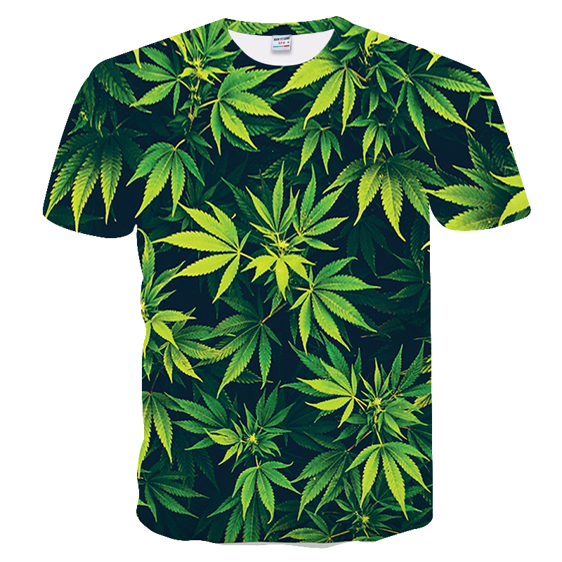 3d Impresso Camisetas Casual T-shirt do Homem de Manga Curta Roupas Camisola Tops 2019 Novos Da Mulher Da Forma da folha de Plátano cenário natural