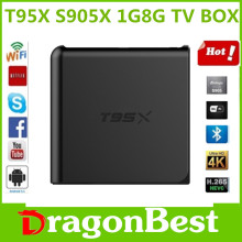 T95X Amlogic S905X 1G/8G Quad Core UHD 4K M Android 6.0 Smart TV Media Player KODI Full Loaded DLNA Airplay Set-top Box