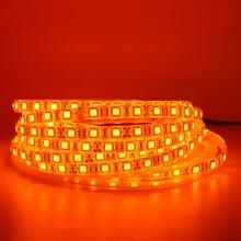 LED Strip Light 600nm True Orange SMD 5050 3528 Strip Ribbon Diode Tape rope lights 12V 1m 2m 5m Flexible Strip string lamp