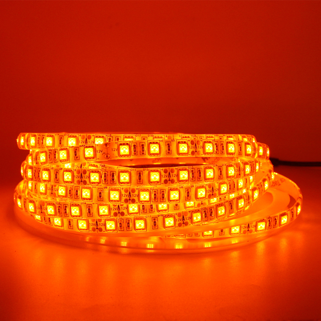 Led Strip Light 600nm True Orange Smd 5050 3528 Ribbon Diode Tape Rope Lights 12v 1m 2m 5m Flexible String Lamp In Strips From