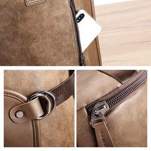 Image 5 - DIDE hommes sac à dos en cuir imperméable sacs à dos dordinateur portable pour homme Mochila Vintage décontracté voyage sac à dos sac Preppy sac décole