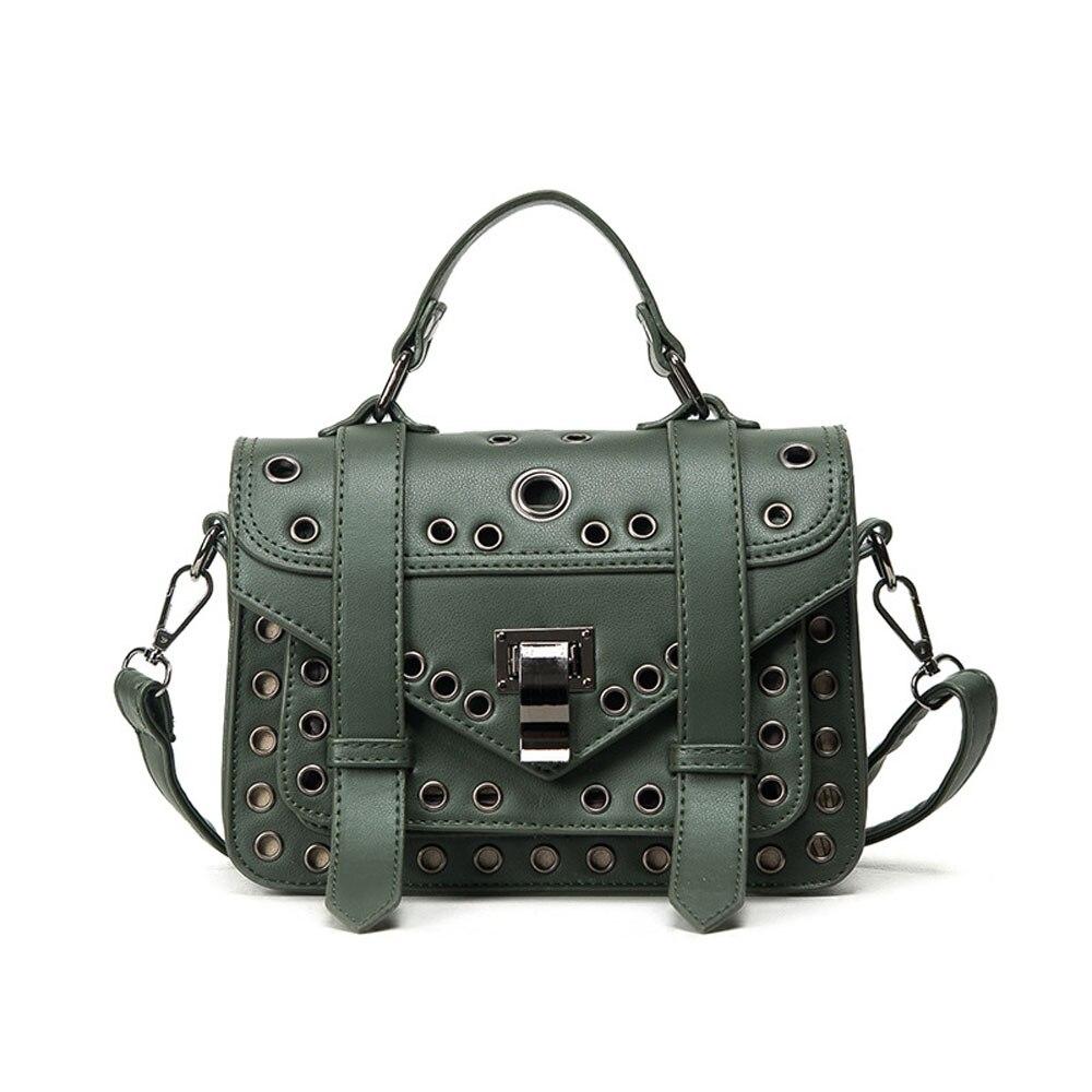 ФОТО Popular Punk Style Hollow PU Leather Shoulder Crossbody Bag Fashion Multifunction Women Casual Handbag for Travel Shopping