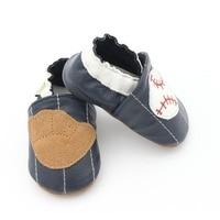 Модная обувь для новорожденных; обувь из натуральной кожи с Бейсбольным узором для малышей; мокасины для новорожденных; обувь для новорожде...