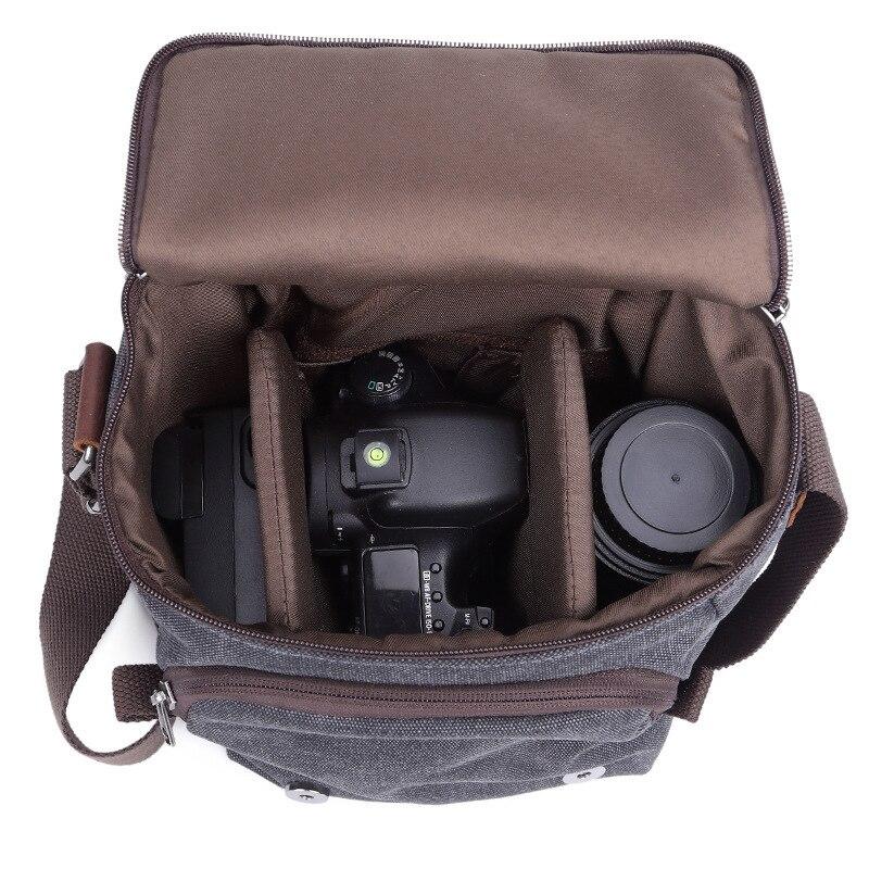 Retro Canvas bags Photo Video Case Travel Waterproof Shoulder Vintage Handbags SLR Photography for Digital point shoot Camera
